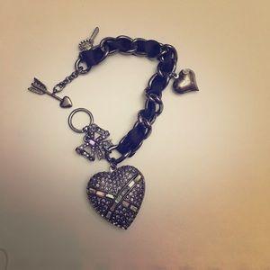 Betsey Johnson heart bracelet